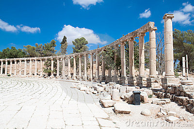 Oval Plazat in Jerash, Jordan
