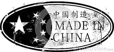 Gjort i Kina den ovala rubber stämpeln