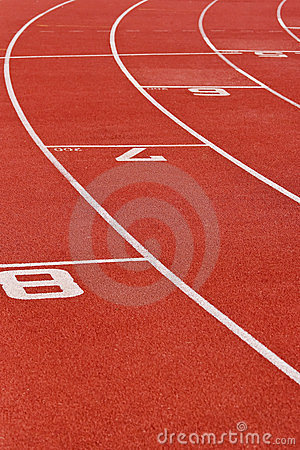 Oval Running Track