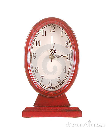 Oval vintage clock