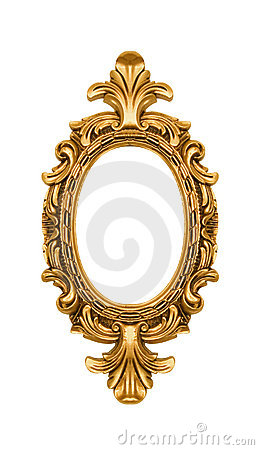 gold ornate oval frame royalty free stock photo image 22870615
