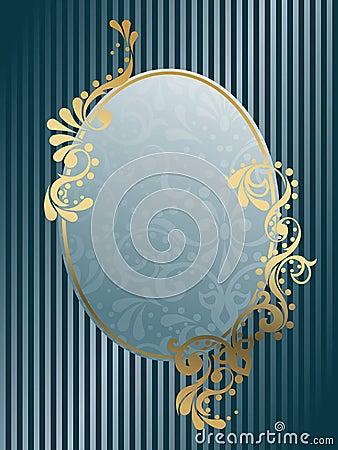 Oval vintage Victorian frame