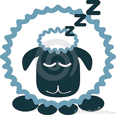 Sleeping Sheep Clip Art