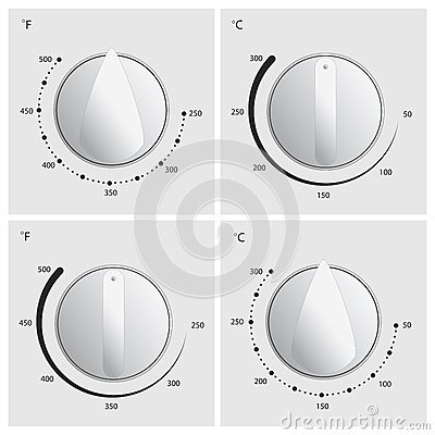 Oven Dial Vector Stock Vector - Image: 45402373