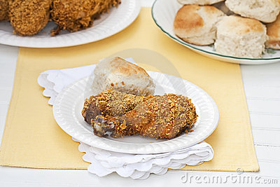 Oven Fried Skinless Chicken Royalty Free Stock Photos - Image: 12855788
