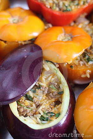Oven ready stuffed vegetables
