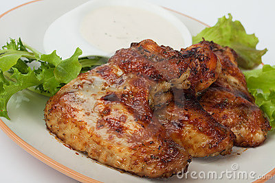 Oven roasted chicken wings