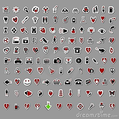 Over 100 Stylish Valentine themed stickers