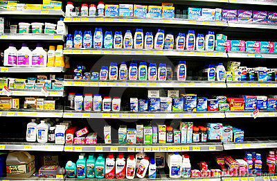 Over-the-counter Drugs Editorial Stock Photo
