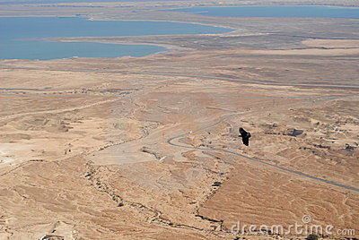 Over the dead sea