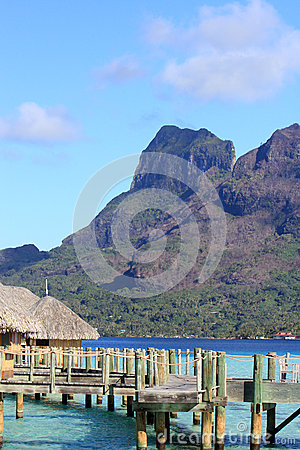 Free Over Water Bungalows In Bora Bora Stock Photography - 35242762