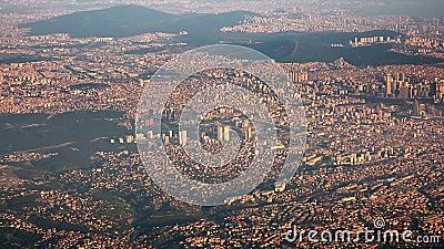 Overbevolkte metropolis Jakarta Indonesië stock footage