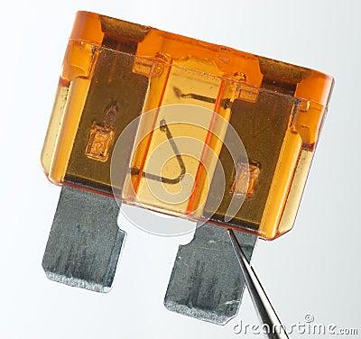 Overburned fuse