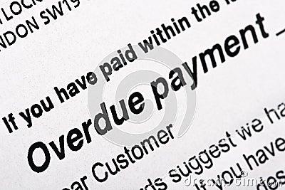 Overdue Payment Bill