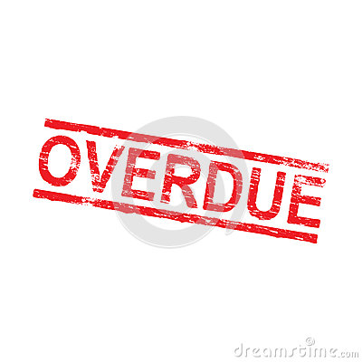 overdue rubber stamp stock vector image 85110665