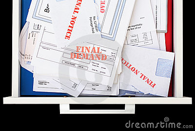 Overdue & Unpaid Invoices in Drawer