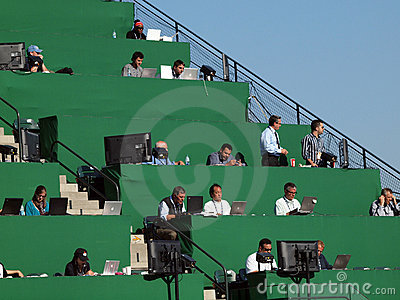 Overflow Media in the upperdeck AT&T park Editorial Image