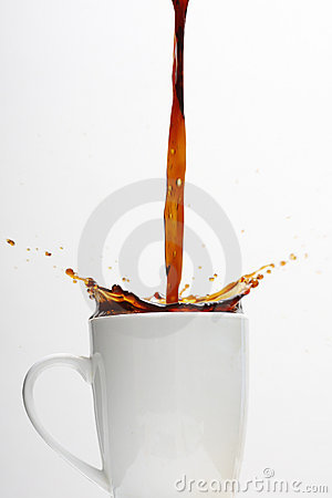Free Overflowing Coffee Cup Royalty Free Stock Photos - 9471578