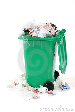Free Overflowing Garbage Bin Stock Image - 14157651