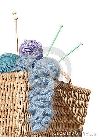 Overflowing knitter s basket