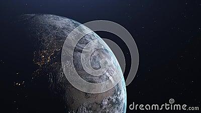 Overgangsdag en nacht van de aarde stock videobeelden