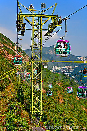 Overhead cable cars Editorial Image