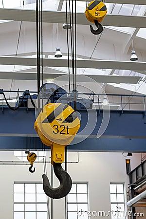 Free Overhead Crane Hooks Stock Photos - 87816283