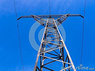 Overhead high-voltage line