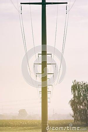 An overhead mast