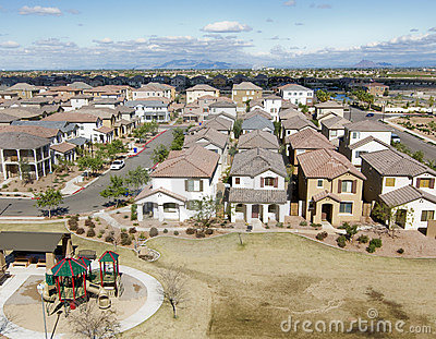 Overhead shot of suburbia in AZ