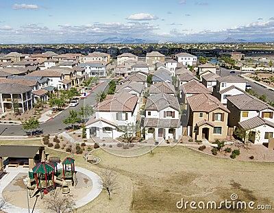 Overhead shot of suburbia in AZ