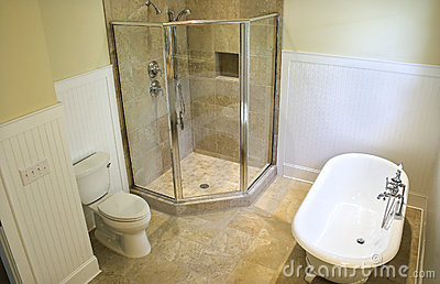 Overhead view of bathroom