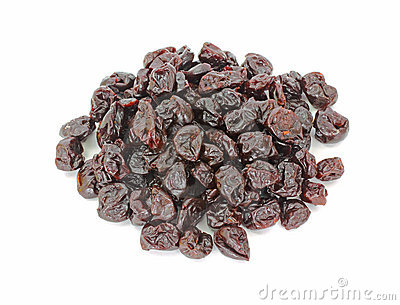 Overhead View of Dried Cherries