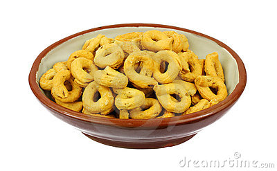 Overhead View Fennel Flavored Snack Rings