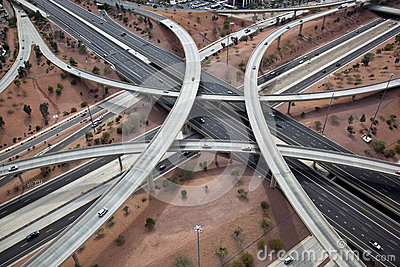 Overhead view of major interchange
