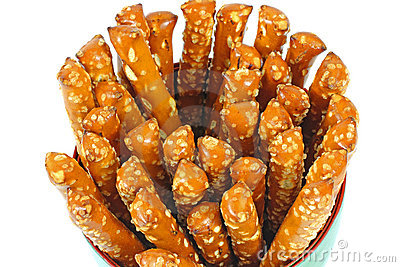 Overhead View Pretzel Sticks