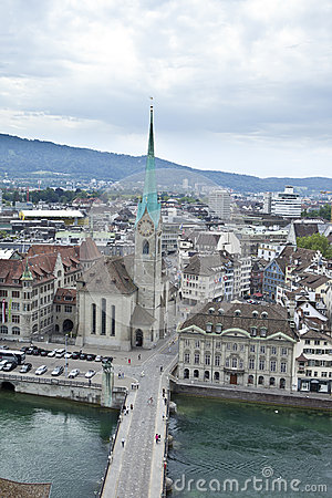 Overhead view of zurich