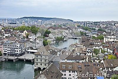 Overhead view of zurich