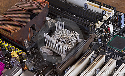 Overheated computer part