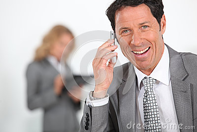 Overjoyed businessman