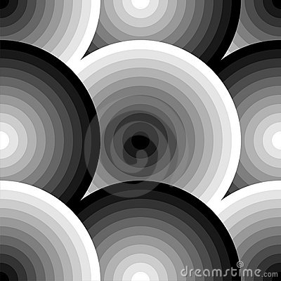 Overlapping Circles In Black And White Royalty Free Stock
