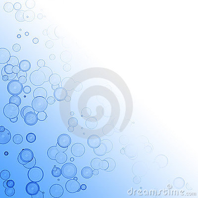 Overlapping circles on blue