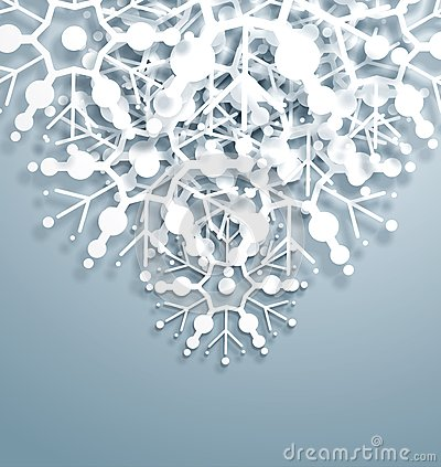Overlapping Snowflakes
