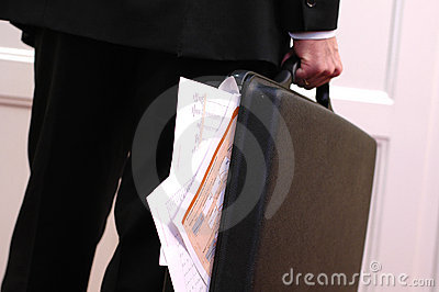 Overloaded briefcase