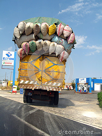 Free Overloaded Truck In Senegal Stock Images - 71319444