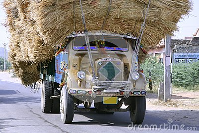 Overloaded truck , rajasthan