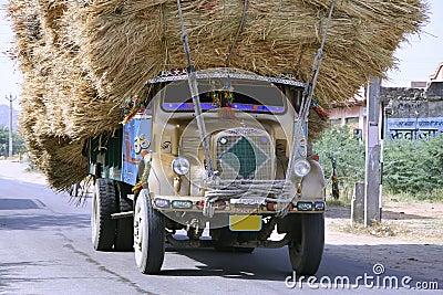 Overloaded truck , rajasthan