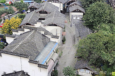 Overlooking huguanghuiguan, chongqing Editorial Stock Image