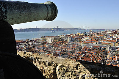 Overlooking Lisbon from Castle of São Jorge