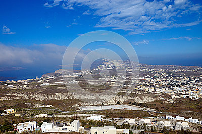 Overlooking Santorini island